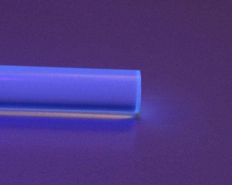 1 m Glow PVC Rundstab fluo hellblau Ø 10 mm – Bild 2