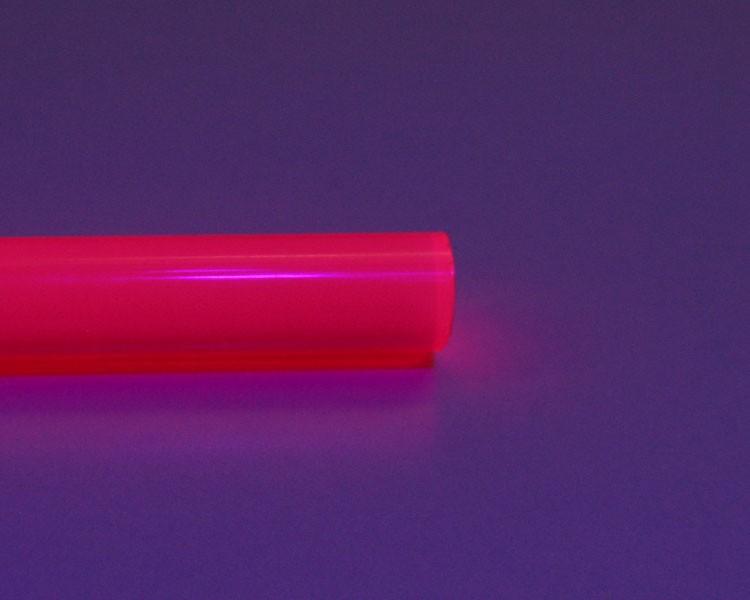 1 m Glow PVC Rundstab fluo pink Ø 10 mm – Bild 2