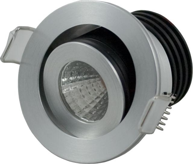 LED Einbaustrahler COB Downlight 3,3W | 3000K | 350mA | 300lm | Montagebügel – Bild 3