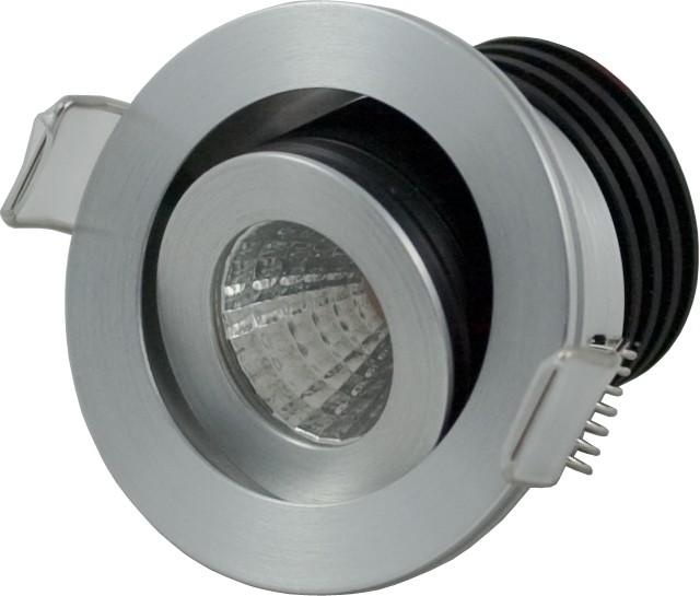 LED Einbaustrahler COB Downlight 3,3W | 2700K | 350mA | 300lm | Montagebügel – Bild 1