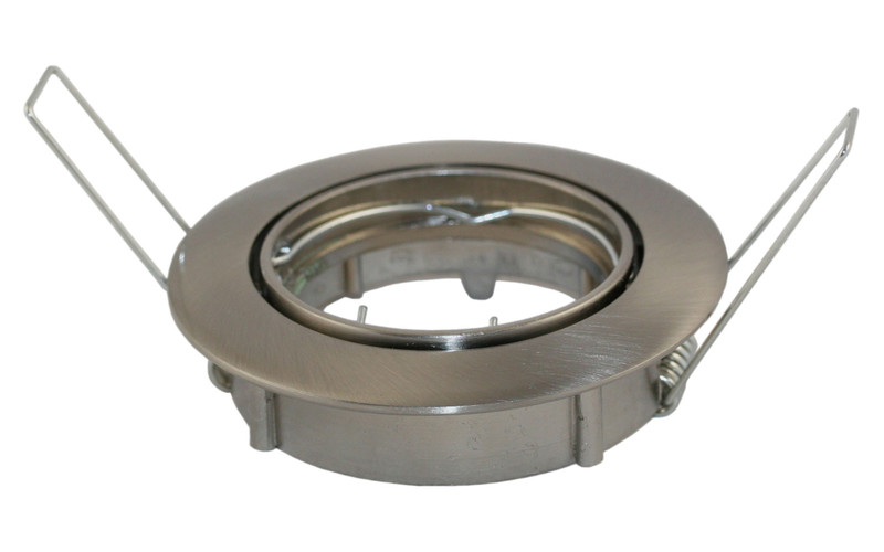 Einbaurahmen Eco 1-fach | Rund Ø 80 mm Alu | mit Bügeln