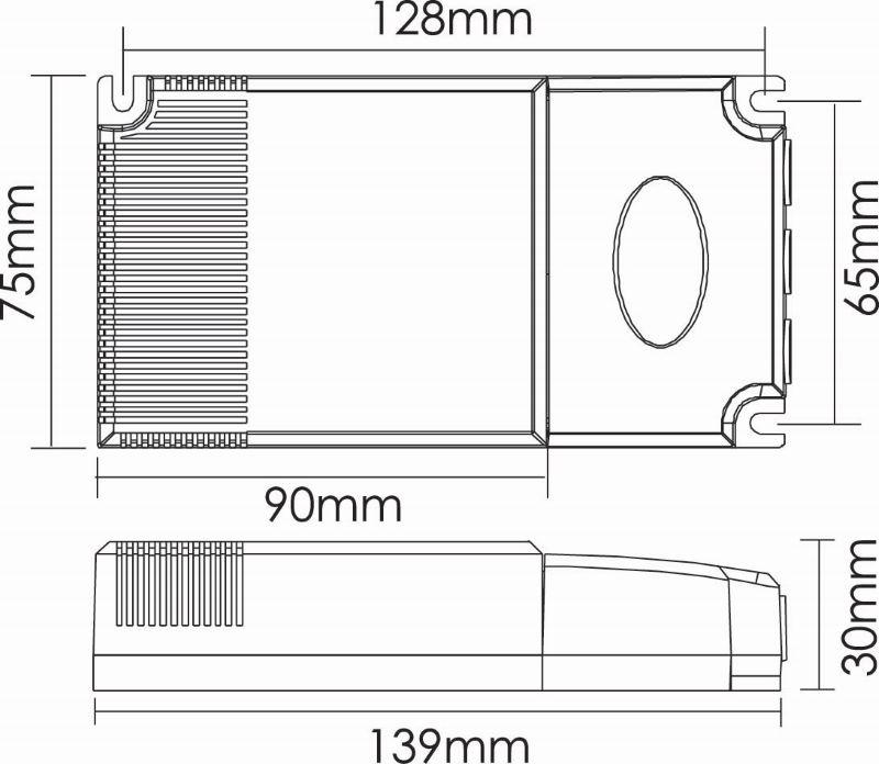 LED Netzteil 40W | DALI Dimmbar | 350-700 mA | IP20 – Bild 3