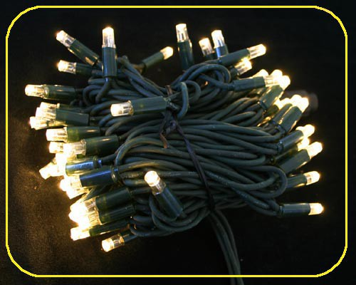 LED Cord Light 10m,100 ww++ LEDs grünes Kabel IP44 – Bild 3