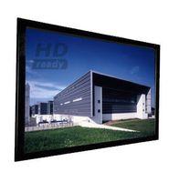 4:3 Rahmenleinwand 250 x190, Rahmen mit Veloursüberzug – Bild 1