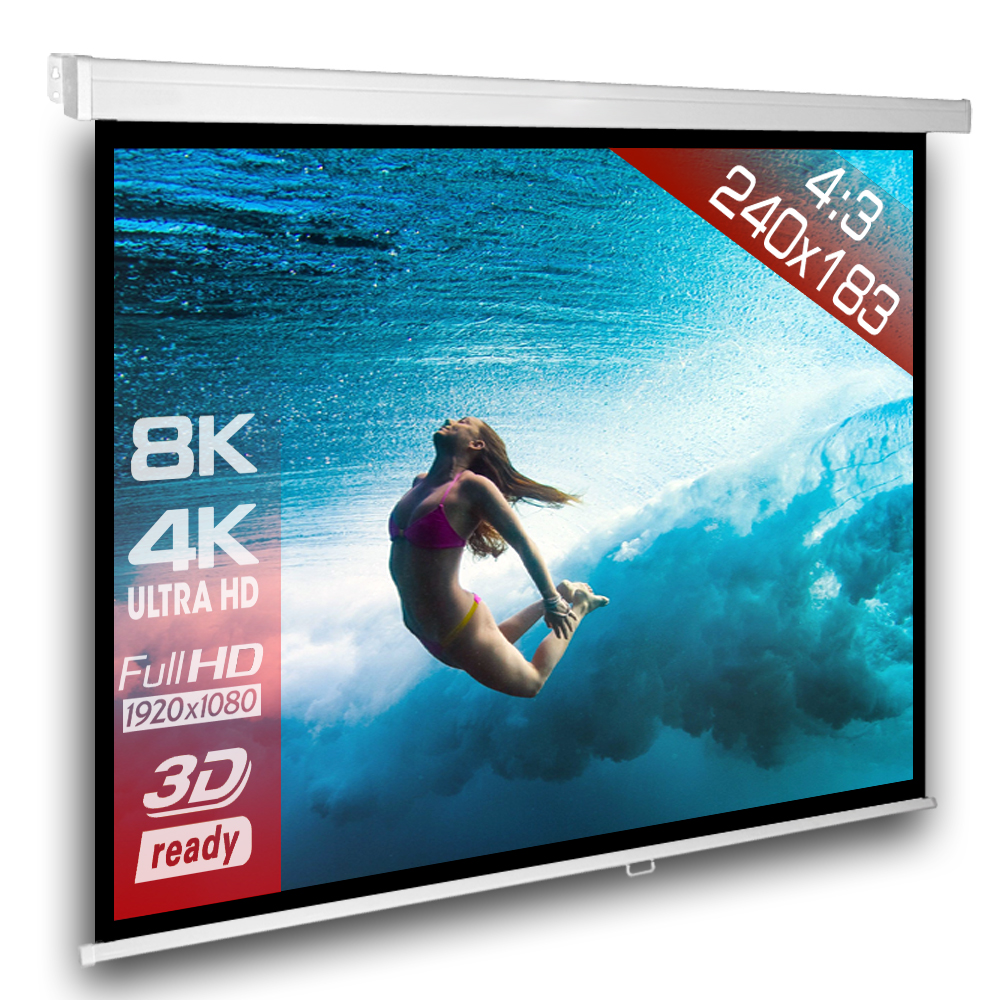 Gain Ecran De Projection 4:3 manual wall screen slender line 244 x 183 | ceres webshop