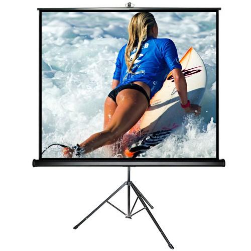 alphavision stativleinwand 220 x 220 cm mobile beamer leinwand inkl st nder stabile. Black Bedroom Furniture Sets. Home Design Ideas