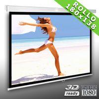 4:3 Rolloleinwand Slender Line 180 x 138 Beamer Leinwand FULL-HD 4K 3D tauglich – Bild 1