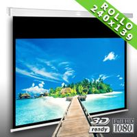 Beamer Rolloleinwand Slender Line MS 234 x 132 cm - Leinwand für Heimkino und Präsentation - Format 16:9 - FULL-HD 4K & 3D geeignet - inkl. Decken- und Wandmontagehalterung – Bild 1