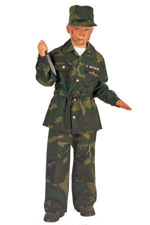 Revoluzzeranzug in grün Camouflage für Kinder