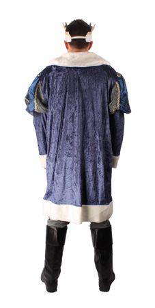 Faschingskostüm King Henry, Mantel kurz mit Krone – Bild 3
