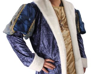 Faschingskostüm King Henry, Mantel kurz mit Krone – Bild 5