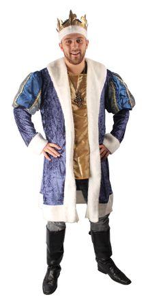 Faschingskostüm King Henry, Mantel kurz mit Krone – Bild 1