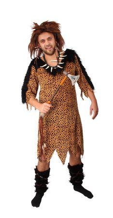 Herren | Faschingskostüm Neandertaler Partnerkostüm | Kleid mit zwei Armstulpen – Bild 2