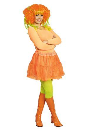 Petticoat Neon-Orange für Erwachsene