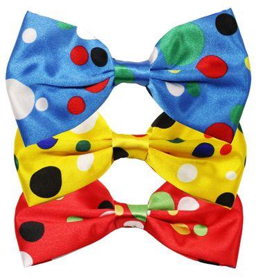 Clownschleife- Fliege mit bunten Punkten