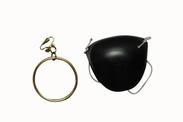 Piratenohrring mit Augenklappe