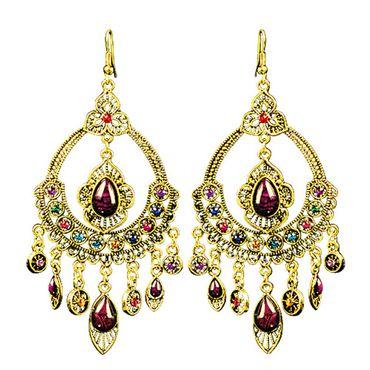 Bollywood-Ohrringe für Karneval oder Fasching