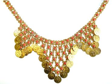 Münz Halskette in verschiedenen Farben
