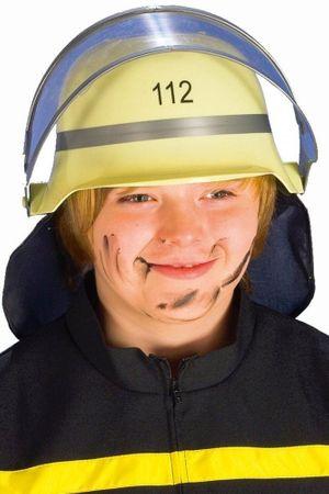 Feuerwehrhelm mit beweglichem Visier für Kinder für den Karneval