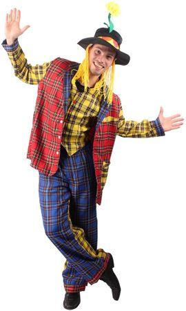 Zirkus Clown - buntes Clownskostüm Narrenanzug 3-teilig – Bild 2