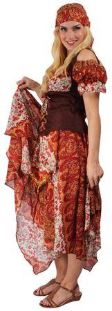 Zigeunerkleid Zigeunerkostümset mit Medaillon-Kette Gypsy – Bild 2