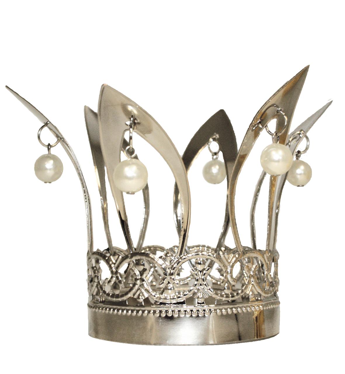 Kronchen Metall In Silber Ca 13x7cm Prinzessin Krone Fur