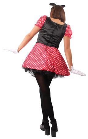 Mäuschen-Kostüm Mikki in rot mit weißen Punkten | Größe 36/38-44/46 | Maus-Kostüm für Damen – Bild 4