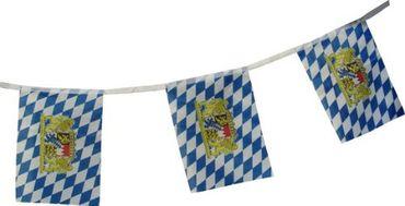 Oktoberfest-Girlande / Bayern-Girlande aus Stoff