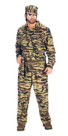 Tarnanzug in Camouflage für Erwachsene für den Fasching