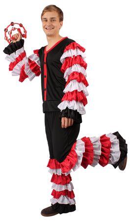 Sambakostüm in schwarz-rot-weiß für Herren für den Karneval – Bild 3