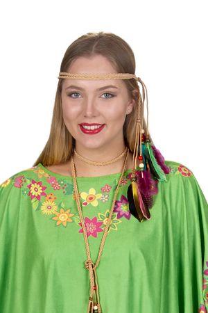 Hippie-Kostüm / Hippie-Poncho – Bild 2
