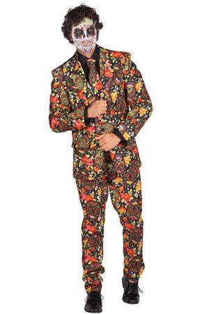 Los-Muertos-Anzug / 3 tlg. mit LED / Halloween-Kostüm – Bild 2