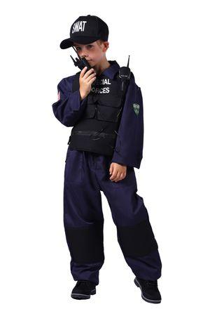 Swat-Kostüm-Kinder / Kinderkostüm-Spezialeinheit – Bild 4
