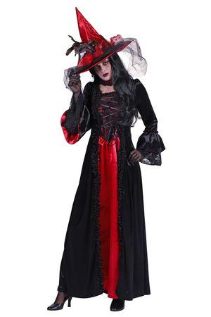 Hexen-Kleid rot-schwarz / Hexen-Kostüm  – Bild 2