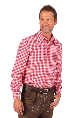 Trachten-Hemd rot-weiß / Oktoberfest-Hemd – Bild 2