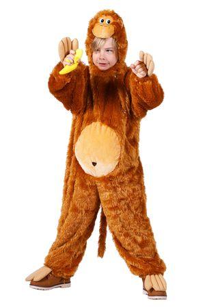 Affen-Kostüm / Plüsch-Kostüm-Affe – Bild 2
