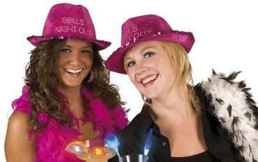 "Partyhut ""Girls Night Out"" in lila für den Fasching"