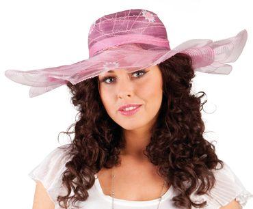 Damen Hut / Florentiner Hut für Karneval oder Fasching