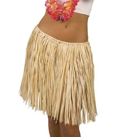 Hawaiirock knielang 40 cm in beige für den Karneval