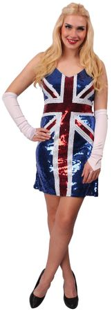Pailletten-Kleid British Union Jack – Bild 2