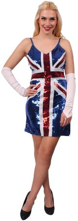 Pailletten-Kleid British Union Jack – Bild 1