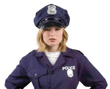 Polizeimütze in dunkelblau für Erwachsene und Kinder für den Karneval oder Fasching