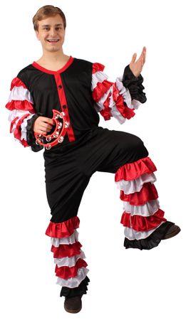 Sambakostüm in schwarz-rot-weiß für Herren für den Karneval – Bild 1