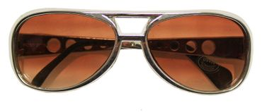 Rock n Roll Brille in silber