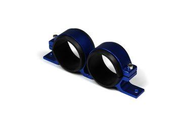 Universal Aluminium Dual Kraftstoffpumpen-Halter Blau 60mm