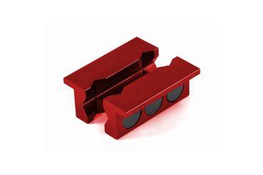 100mm Schraubstock-Alubacken mit Magnet in Rot – Bild 1