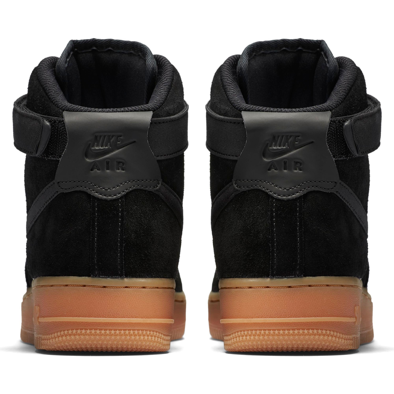 Nike - Wmns Air Force 1 Hi Se Womens Shoes BlackBlack Dark Grey Gum Med Brown