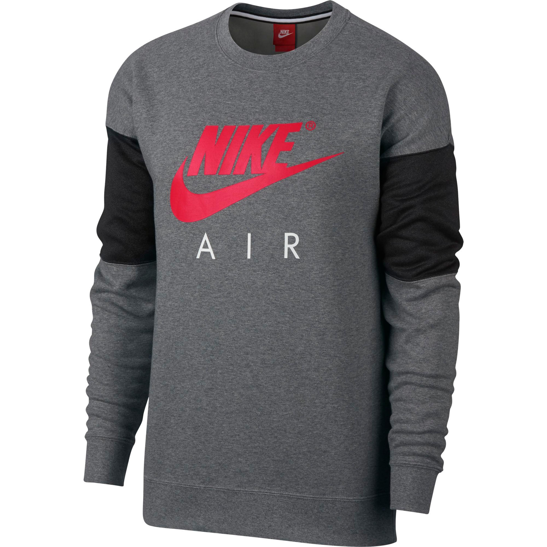brand new b45ca 74041 Nike Sportswear Crew LS AIR Sweatshirt für Herren in grau