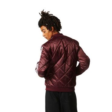 Adidas SST Quilted Jacke für Herren | rotbraun Maroon