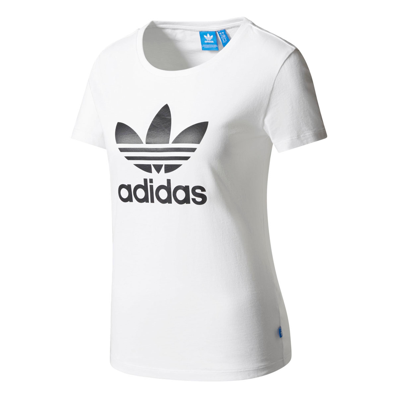 5f30fe4e Adidas Trefoil T-Shirt für Damen in weiss mit schwarzem Trefoil WHITE/BLACK
